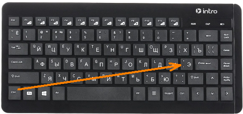 Комбинация клавиш Ctrl-'