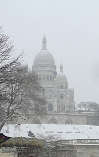 Монмартр в снегу