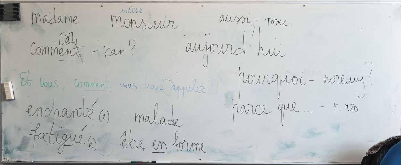 Слова для простого диалога по-французски