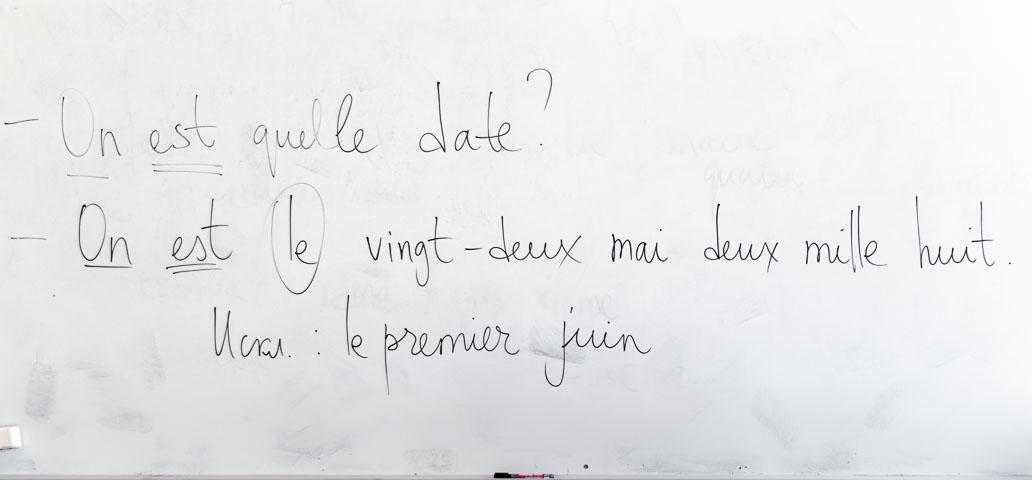 Как записать дату по-французски